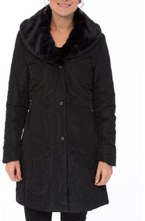 Anna Rose Detachable Faux Fur Collar Coat