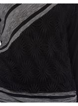 Long Sleeve Textured Tunic Charcoal - Gallery Image 4