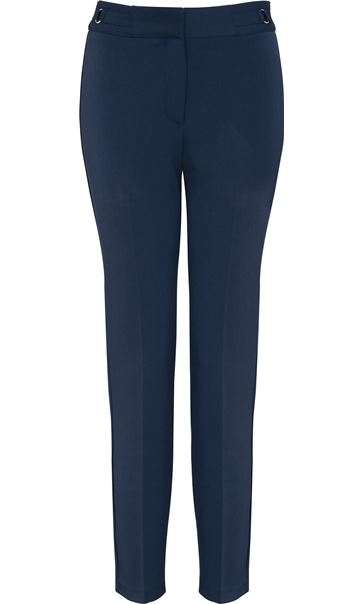 Narrow Leg Stretch Trousers Navy