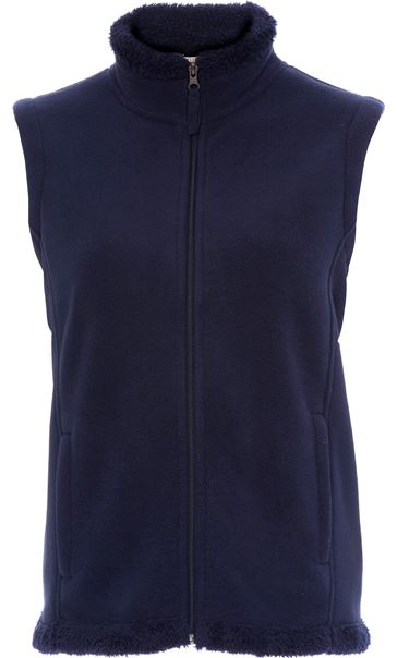 Anna Rose Fleece Gilet Navy