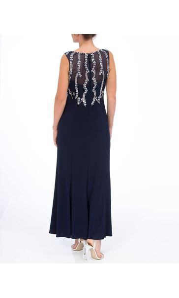 Embellished Sleeveless Maxi Dress Midnight/Silver - Gallery Image 2