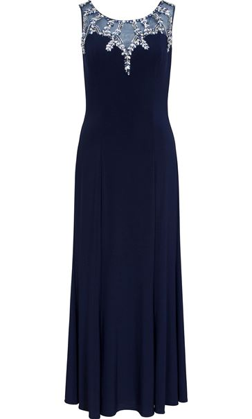 Embellished Sleeveless Maxi Dress Midnight/Silver - Gallery Image 3