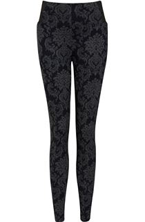 Fitted Pull On Printed Trousers