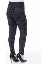 Fitted Pull On Printed Trousers Navy/Grey - Gallery Image 3