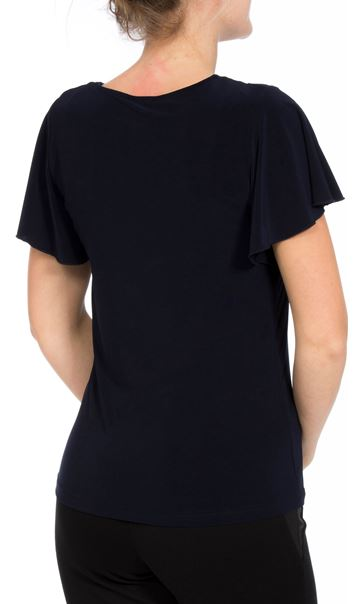 Embellished Jersey Short Sleeve Top Midnight - Gallery Image 3