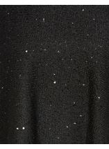 Sequin Knit Poncho Black - Gallery Image 4