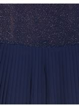 Pleat Panel Shimmer Top Blue/Silver - Gallery Image 4