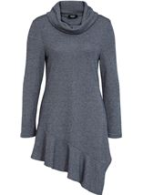 Cowl Neck Long Sleeve Tunic Midnight - Gallery Image 1