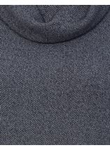 Cowl Neck Long Sleeve Tunic Midnight - Gallery Image 4