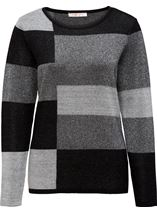 Anna Rose Sparkling Light Weight Monoblock Jumper Black/Silver - Gallery Image 1