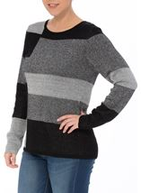 Anna Rose Sparkling Light Weight Monoblock Jumper Black/Silver - Gallery Image 2