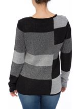 Anna Rose Sparkling Light Weight Monoblock Jumper Black/Silver - Gallery Image 3