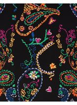 Embroidered Knitted long Sleeve Top Black/Multi - Gallery Image 4