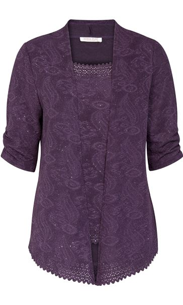 Anna Rose Sparkle Moc Top And Cover Up Dusty Purple