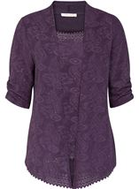 Anna Rose Sparkle Moc Top And Cover Up Dusty Purple - Gallery Image 1