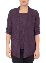 Anna Rose Sparkle Moc Top And Cover Up Dusty Purple - Gallery Image 2