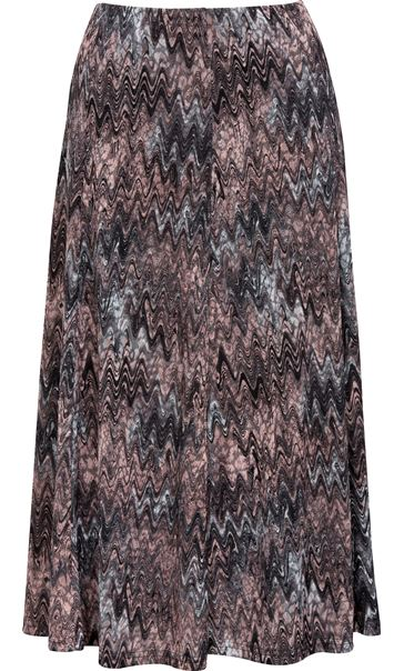 Anna Rose Muted Watercolour Print Skirt Grey/Pink