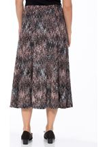 Anna Rose Muted Watercolour Print Skirt Grey/Pink - Gallery Image 3