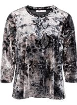 Anna Rose Animal Printed Velour Top Snake - Gallery Image 1