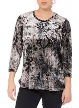 Anna Rose Animal Printed Velour Top Snake - Gallery Image 2