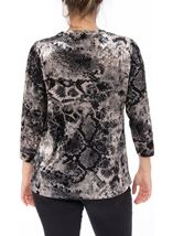 Anna Rose Animal Printed Velour Top Snake - Gallery Image 3
