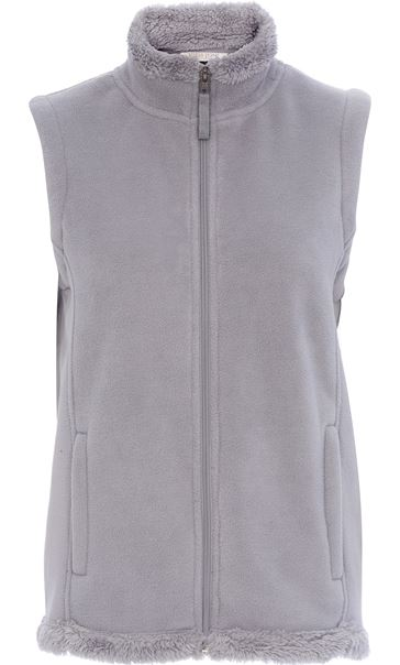 Anna Rose Fleece Gilet Smoke