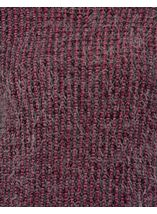 Patterned Eyelash Knit Top Black/Magenta - Gallery Image 4