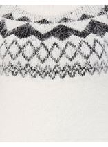 Monochrome Eyelash Knitted Top White/Black - Gallery Image 4