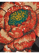 Floral Placement Print Tassel Knit Top Black/Multi - Gallery Image 4