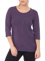 Anna Rose Embellished Knit Top Dusty Purple - Gallery Image 2