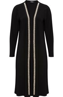 Longline Embellished Open Cover Up