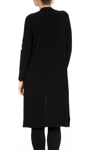 Longline Embellished Open Cover Up Black - Gallery Image 3