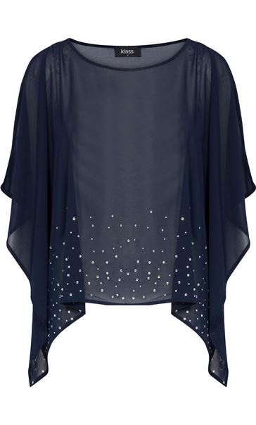 Embellished Chiffon Cover Up Midnight