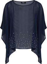 Embellished Chiffon Cover Up Midnight - Gallery Image 1