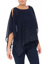Embellished Chiffon Cover Up Midnight - Gallery Image 2