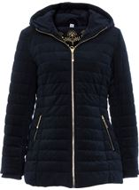 Quilted Velvet Zip Coat French Blue - Gallery Image 1