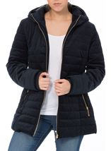 Quilted Velvet Zip Coat French Blue - Gallery Image 2