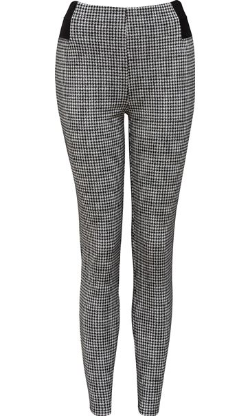 Dogtooth Skinny Trousers Black/White