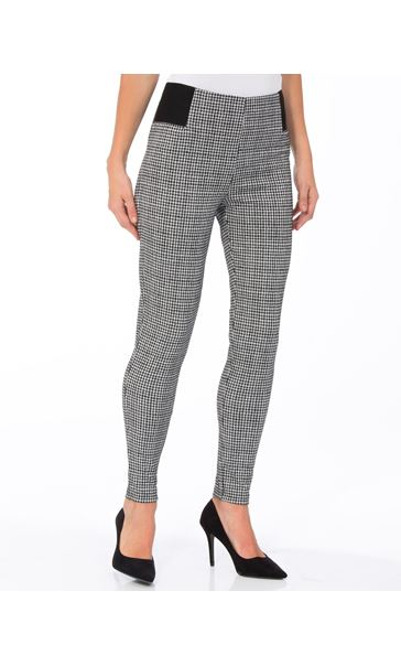 Dogtooth Skinny Trousers Black/White - Gallery Image 2