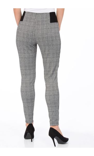 Dogtooth Skinny Trousers Black/White - Gallery Image 3