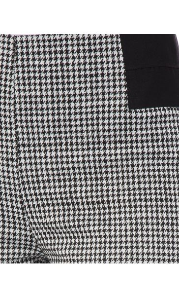 Dogtooth Skinny Trousers Black/White - Gallery Image 4