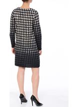 Brushed Dogtooth Knitted Tunic Black/White - Gallery Image 2