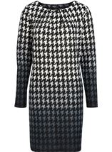 Brushed Dogtooth Knitted Tunic Black/White - Gallery Image 3