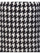 Brushed Dogtooth Knitted Tunic Black/White - Gallery Image 4