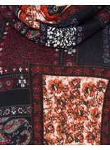 Tile Print Brushed Knit Tunic Black/Red - Gallery Image 4