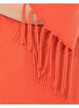 Tassel Cuff Knitted Top Tangerine - Gallery Image 3