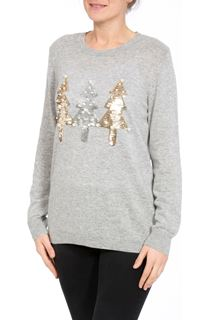 Embellished Christmas Tree Long Sleeve Knit Top