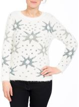 Eyelash Knitted Star Top Cream - Gallery Image 1