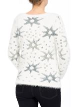 Eyelash Knitted Star Top Cream - Gallery Image 2