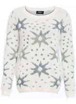 Eyelash Knitted Star Top Cream - Gallery Image 4